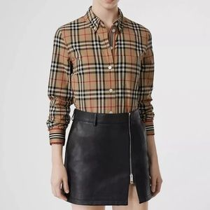Burberry Icon stripe vintage check cotton shirt